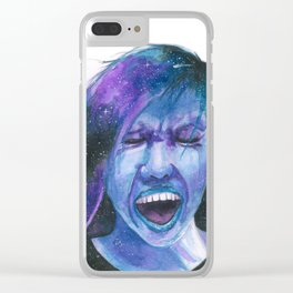 Galaxy Girls - When the Universe Screams Clear iPhone Case