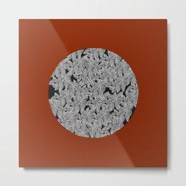 Leaf Dot (singular) Metal Print