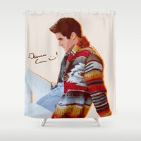 glee Shower Curtains featuring Darren for Hero by byebyesally