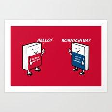 Say Hello Art Print