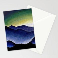 Mountain Landscape at Dusk Stationery Cards