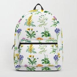 Seamless Herbs Pattern Backpack