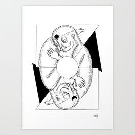 MY TWINS Art Print