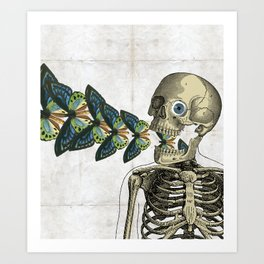 Puking butterflies! Art Print