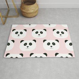 Panda Love -Pink Rug