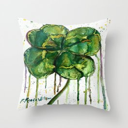 Run O' Luck Throw Pillow
