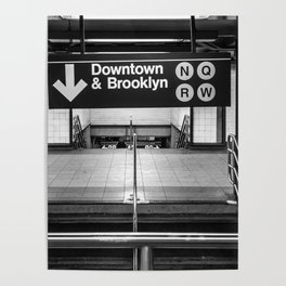 Downtown New York City Subway Poster