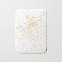 OTTAWA CANADA CITY STREET MAP ART Bath Mat
