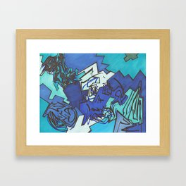 Skull Jiggy Jigsaw Framed Art Print
