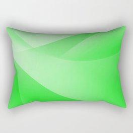 Green Wallpaper Rectangular Pillow