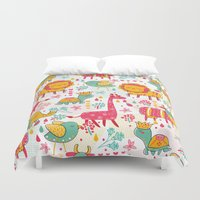 wildlife Duvet Covers featuring Wildlife by One April