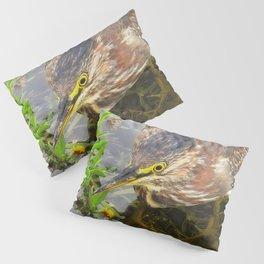 Young Green Heron Pillow Sham