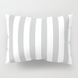 Vertical Light Grey Stripes Pattern Pillow Sham