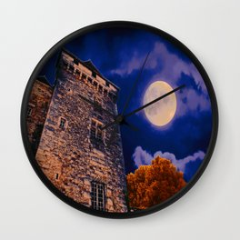 Full Moon and Castle Wall Clock