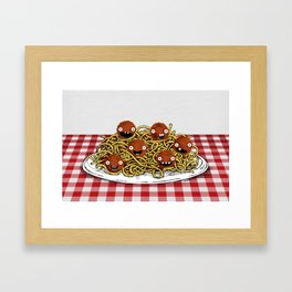 Spaghetti + Meatballs Framed Art Print