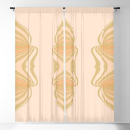 Cream and Olive Green Pattern Blackout Curtain