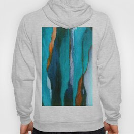 """""""a dark february redux1"""" abstract watercolor painting Hoody"""