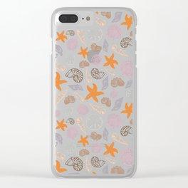 Seashell Print Clear iPhone Case