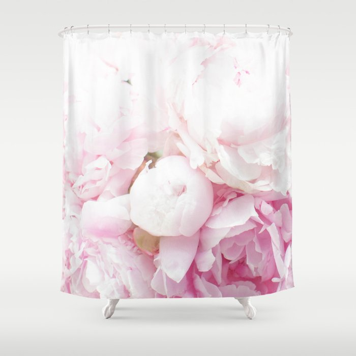 Pink Peony Shower Curtain By Ashleypowellphotography