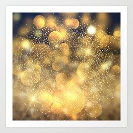 Golden glitter pattern Art Print