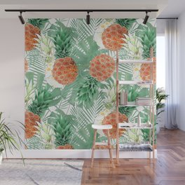 Pineapples. Wall Mural