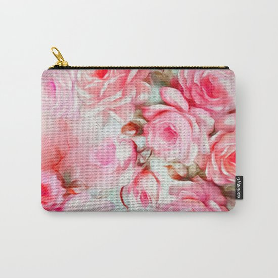 Shabby Chic Pink Carry-All Pouch