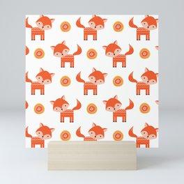 Orange Fox Mini Art Print