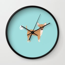 Chihuahua funny fart dog pure breed gifts dog lovers Wall Clock