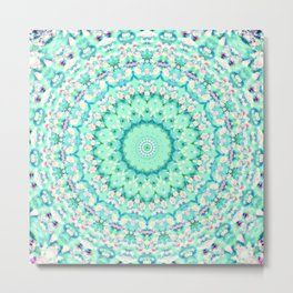 ARABESQUE SPRING MINT Metal Print