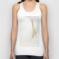 skiing Tank Tops featuring Gull Skiing by Karol Livote