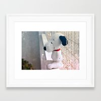 snoopy Framed Art Prints featuring Snoopy by UliD