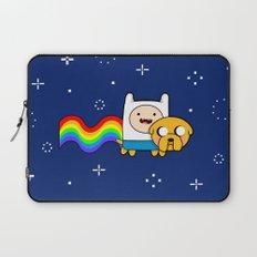 Nyan Time: Adventure Time plus Nyan Cat Laptop Sleeve