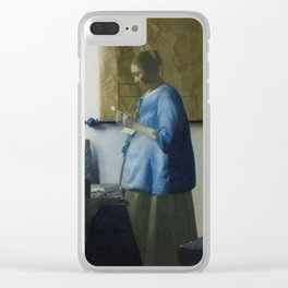 Letter reading woman - Johannes Vermeer (ca. 1663) Clear iPhone Case