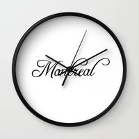 montreal Wall Clocks featuring Montreal by Blocks & Boroughs