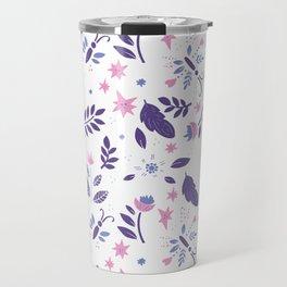 purple and pink flora Travel Mug