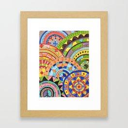 Overlay mandala  Framed Art Print