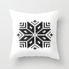 knit flake Throw Pillow
