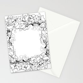 Abstract floral frame Stationery Cards