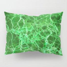 Emerald Green Marble Pillow Sham