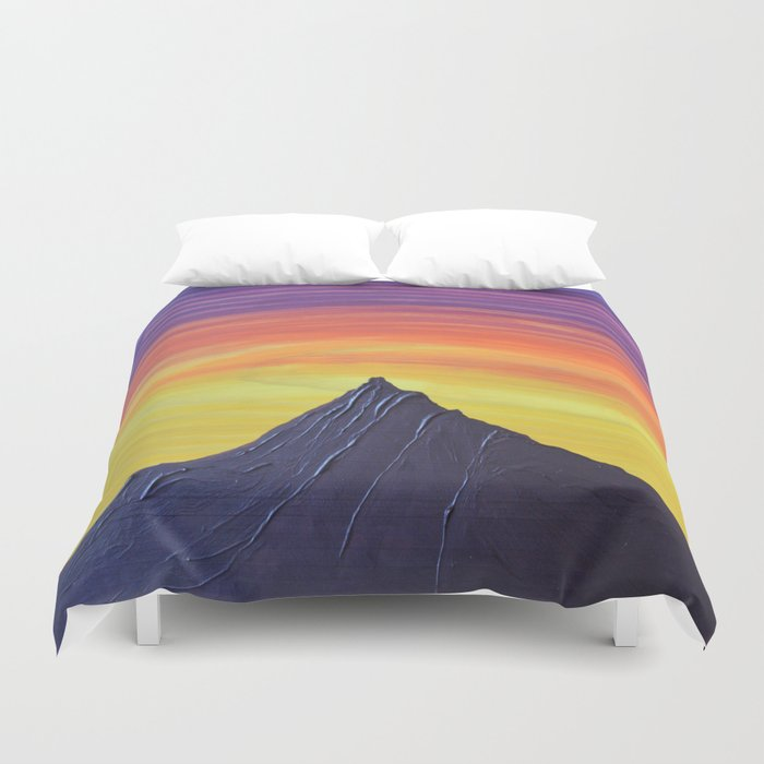 Early Bird Gets the Worm, Pacific Northwest Mountain Series Duvet Cover
