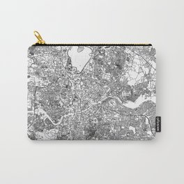 Hyderabad City Map India White and Black Carry-All Pouch