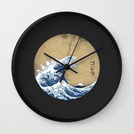 Hokusai Kaiju - Vintage Version Wall Clock