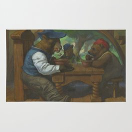 The Three Bears Eating Porridge Rug