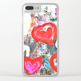 Hearts 2 Clear iPhone Case