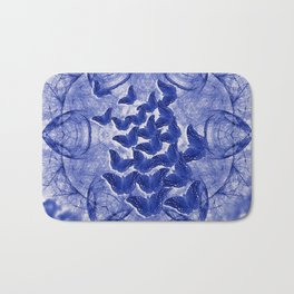 Shadow butterflies emerging from dark chrysalis Bath Mat