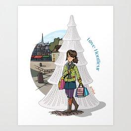 Love Honfleur Art Print