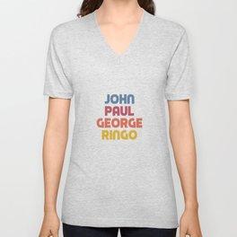 John Paul George Ringo Unisex V-Neck