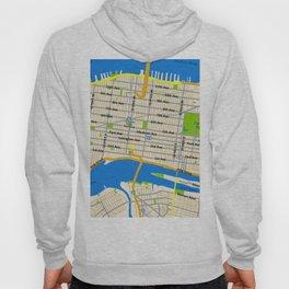 Manhattan Map Design Hoody