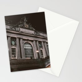 Architecture building in the night Stationery Cards