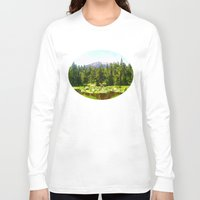 forrest Long Sleeve T-shirts featuring Forest Green by IvanaW